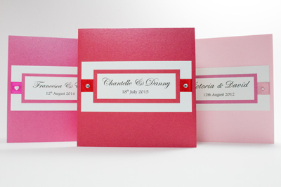 Wedding Invitation  Sample of Happy Heart Collection