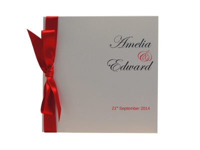 Wedding Invitation Sample of  Classic Bow Collection