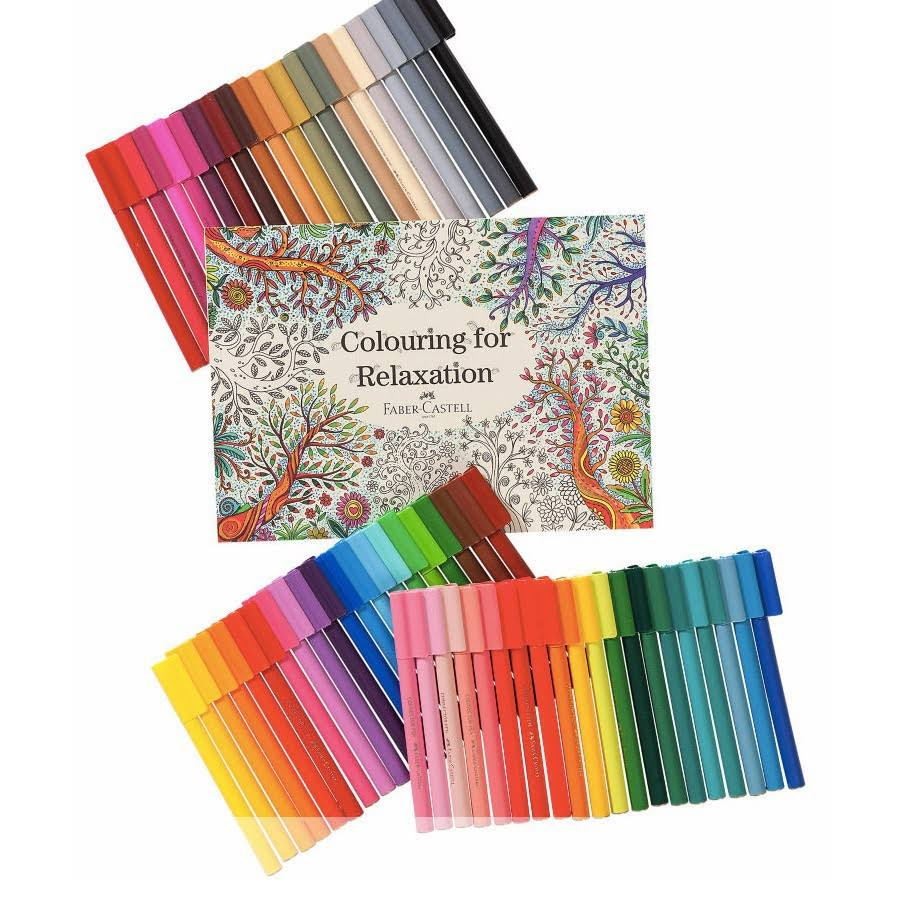 Faber-Castell Colouring for Relaxation Felt Tip Pens Set in Gift Box.
