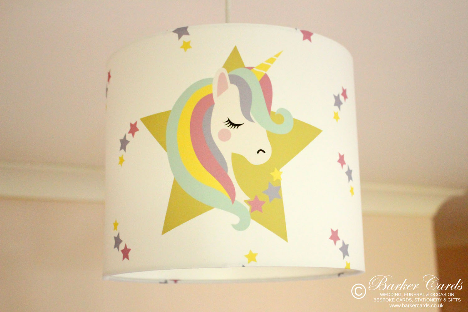 Unicorn Stars Girls Bedroom Lampshade