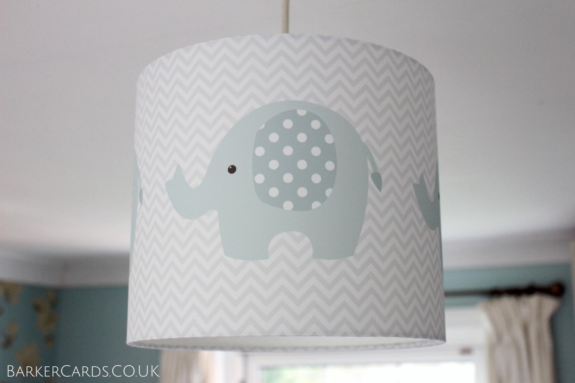 Elephant Nursery Lampshade ideal for a Boys Nursery or Girls Nursery