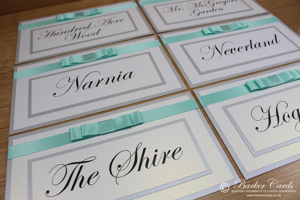 Wedding Table Numbers Mint