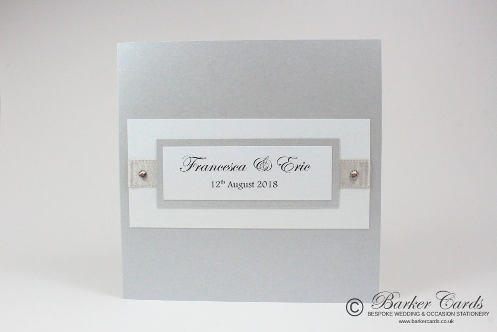 Silver Wedding Invitations UK - grey and silver