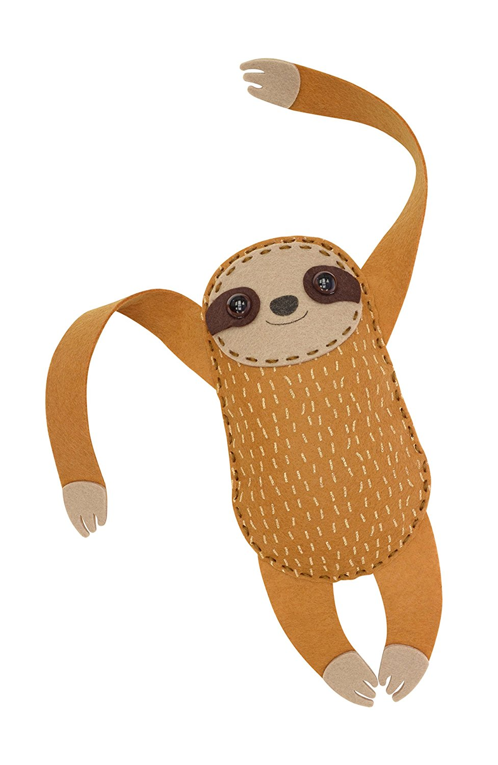 Natural History Museum - Sew Your Own Hanging Sloth Kit - Contents
