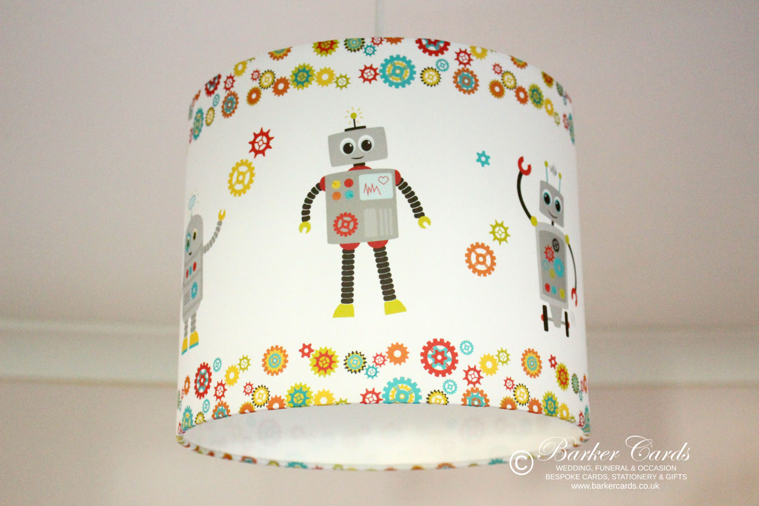 Robot Boys Bedroom Lampshade