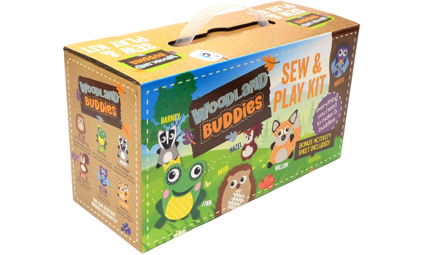 Woodland Buddies Sew and Play - Bumper Carry Case with 6 Buddies