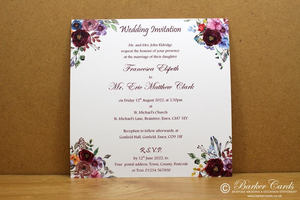 Watercolour Wedding Cards
