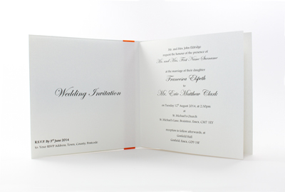 Basic Wedding Invites - Paper Insert