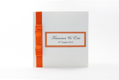 Basic Wedding Invites Orange
