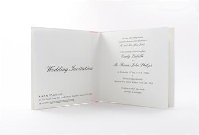 Gorgeous Wedding Invites paper insert