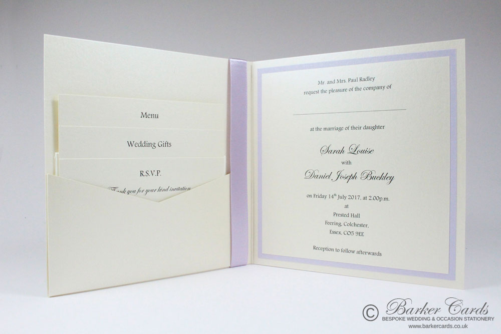 Beautiful Wedding Cards with pocket