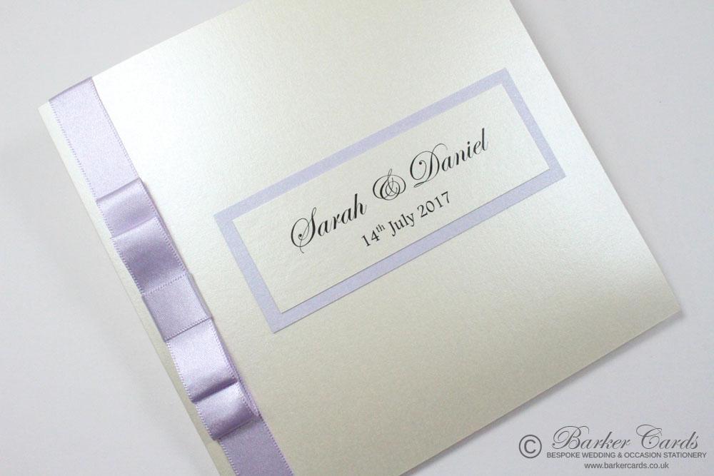 Wedding Invitation - Lilac | Lavender | Pale Purple and Cream. Free ...
