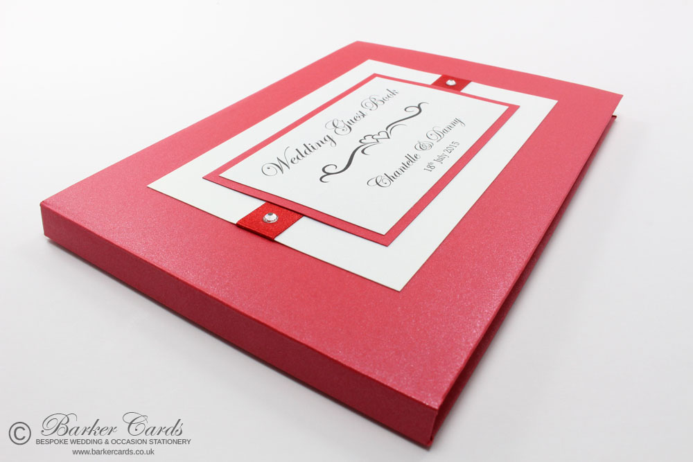 Wedding Guest Book Bright Red (available in all colours)
