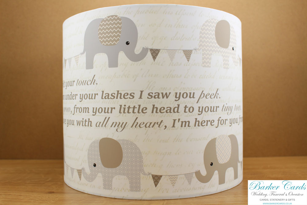 Elephant Nursery Lampshade