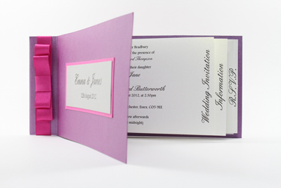 Cheap Cheque Book Wedding Invitations pink