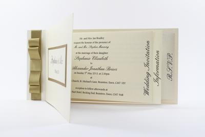 Wedding Invitation Cheque Book