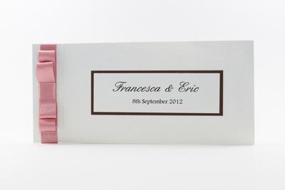 Wedding Cheque Book Invitations Dusky Pink