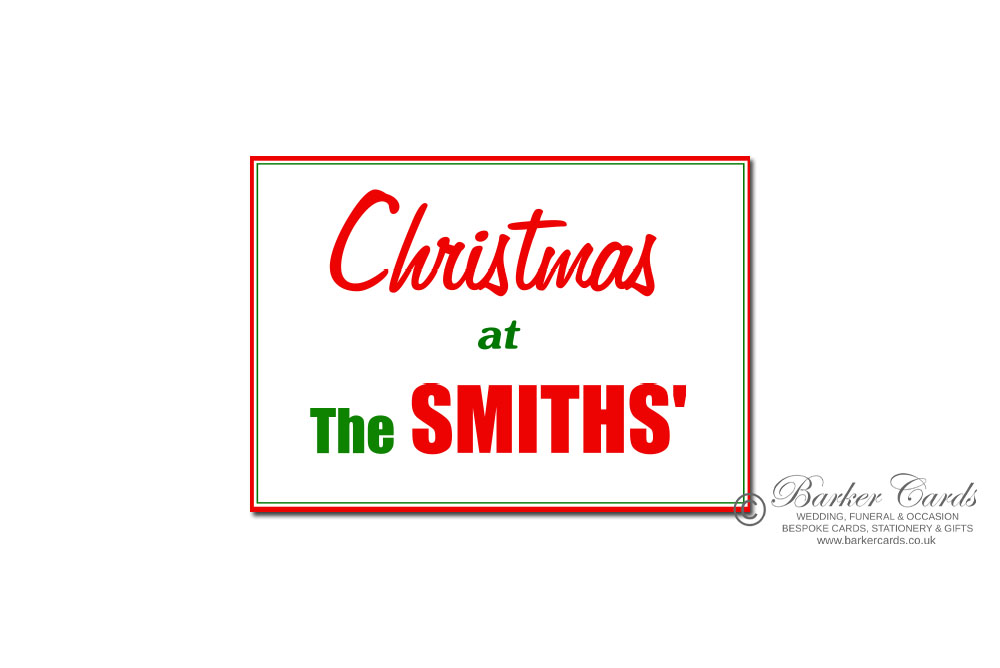Personalised Christmas at the surname signs