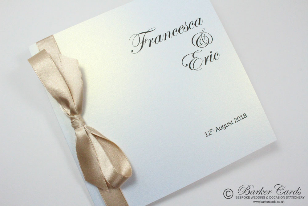 Classic Wedding Invitation Cards - Classic Bow