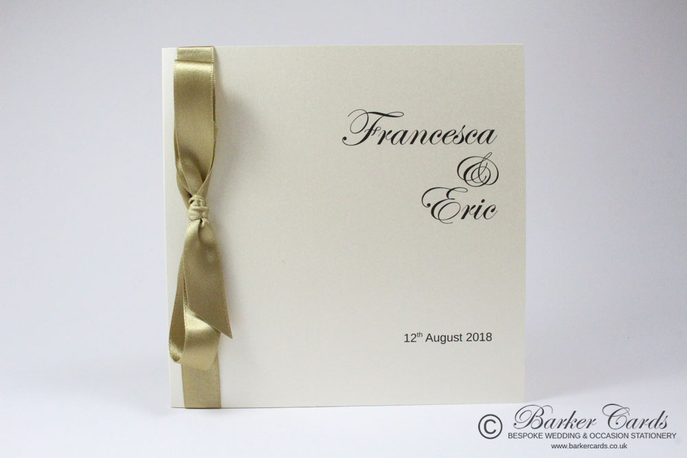 Straw / Champagne / Gold and Cream wedding invitations. Free wedding ...