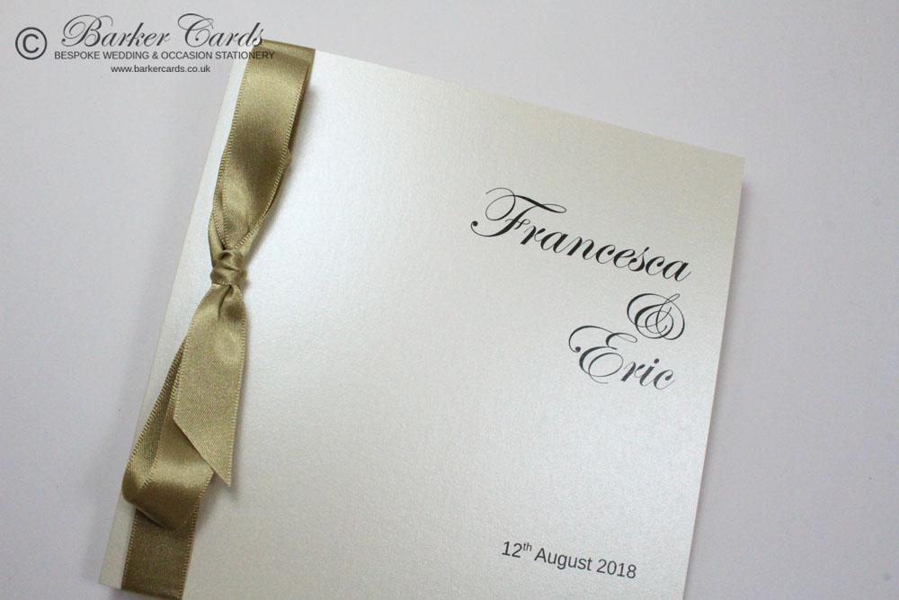 Classic Wedding Invitation - Classic Bow