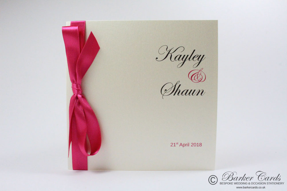 Fuchsia / Hot Pink / Bright Pink / Shocking Pink wedding invitations ...