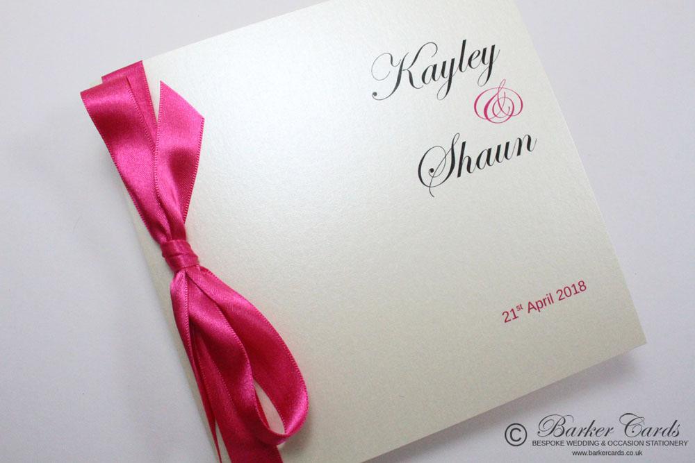 Classy Wedding Invites - fuchsia