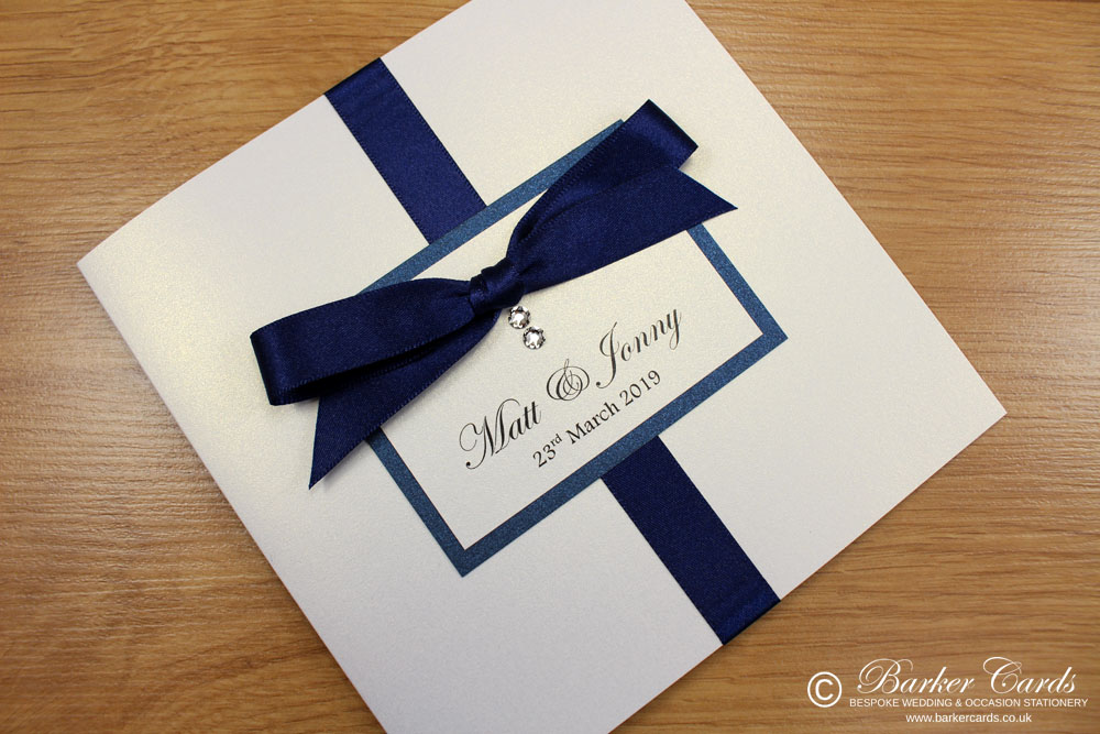 Navy Wedding Invites  Elegance