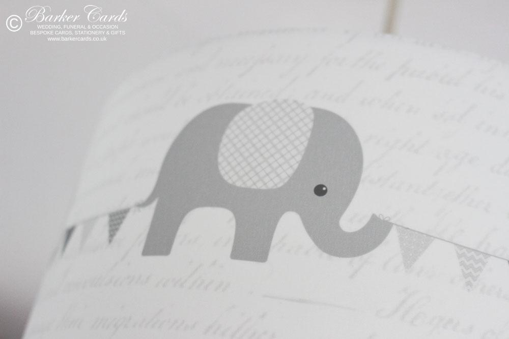 Grey Nursery Elephant Lampshade