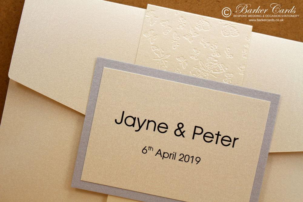 Ivory Pocketfold Invitations