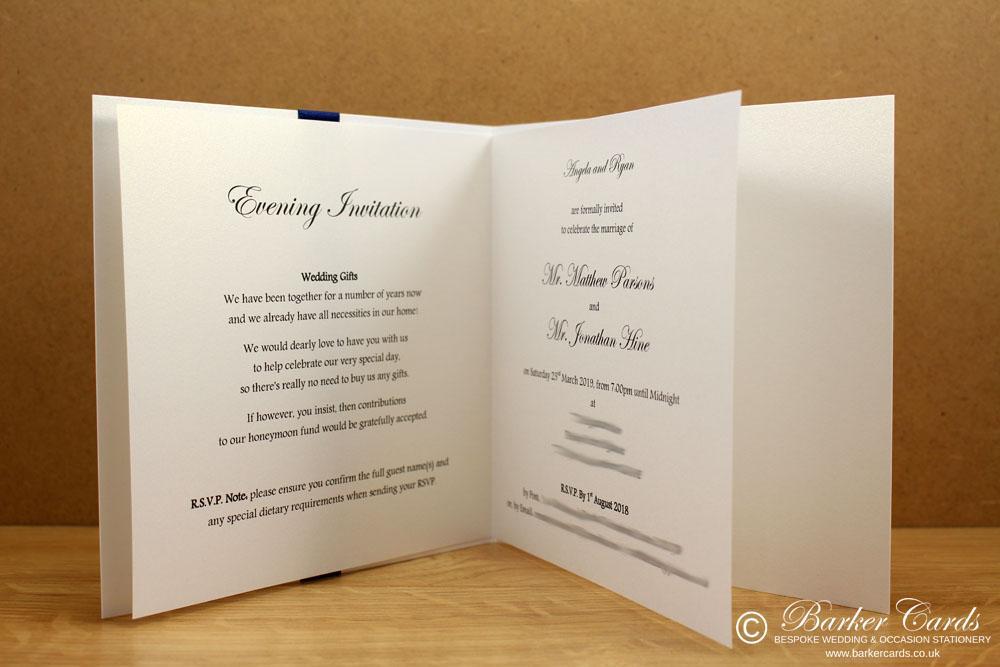 Navy Wedding Invites  Elegance