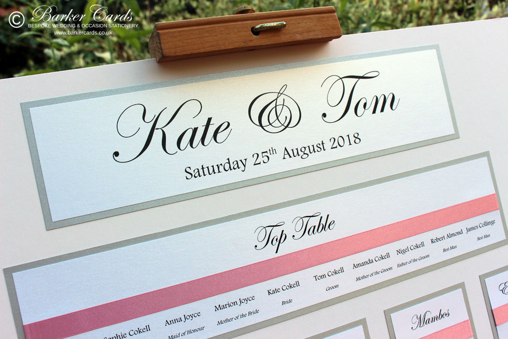 Traditional Wedding Table Plan Ideas