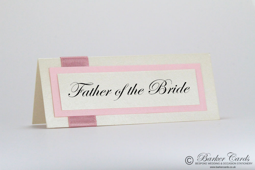 Wedding Place Cards Dusky Pink / Blush Pink / Light Pink  and Cream / Ivory