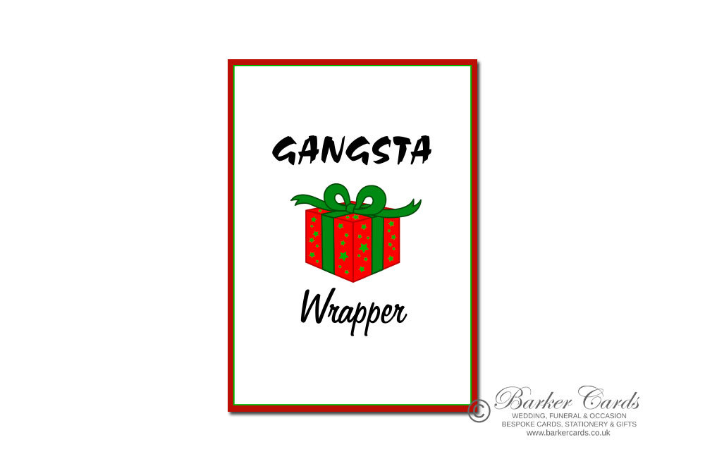 Alternative Christmas gift ideas. Gangsta Wrapper Removable Christmas stickers