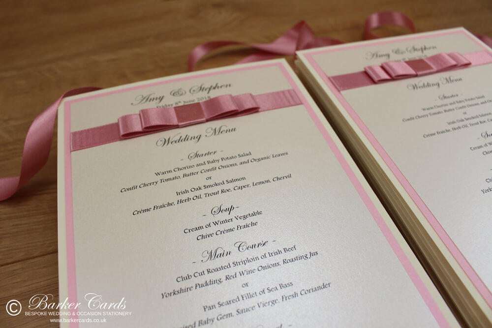 Wedding Breakfast Menus
