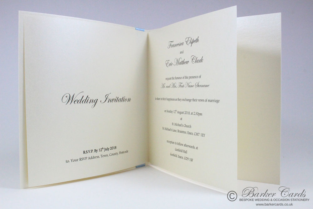 Simple Wedding Invitation Card - Classic Bow
