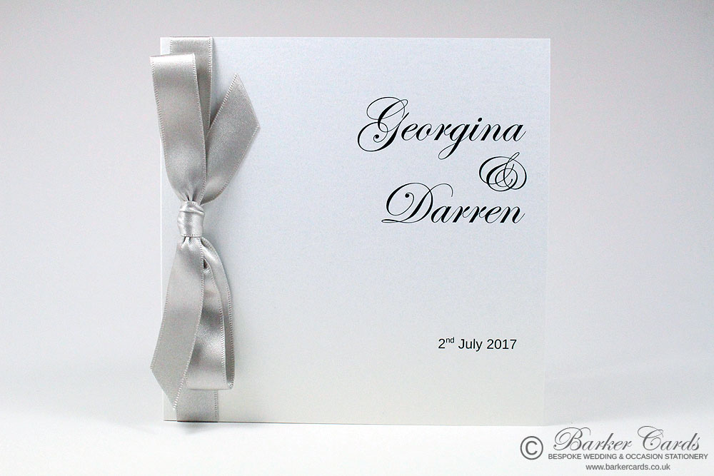 Silver and White wedding invitations. Free wedding invitation ...