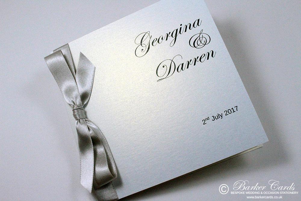 Silver and White wedding invitations. Free wedding invitation ...