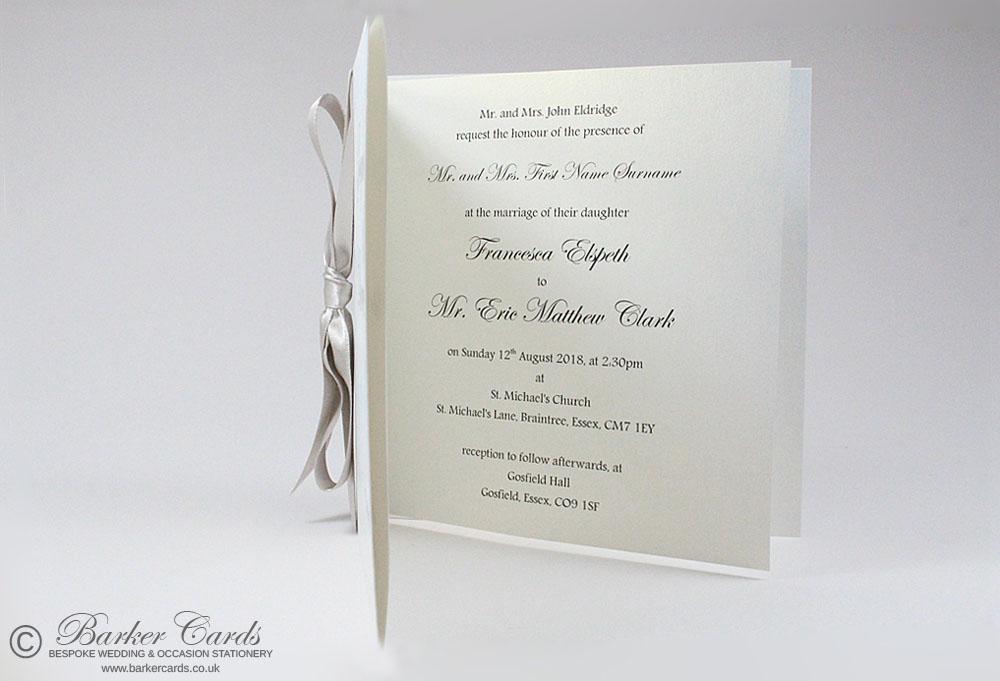Simple Elegant Wedding Invitation - Classic Bow