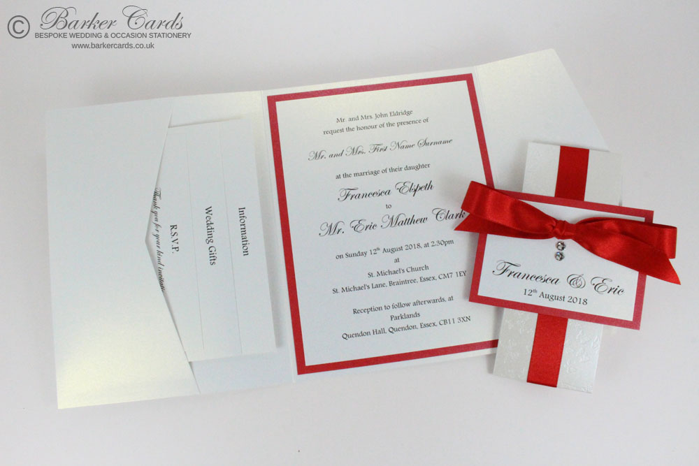 Red Pocketfold Invitations