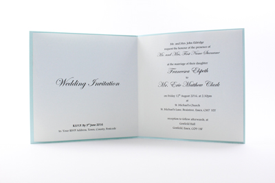Bold Wedding Invitations - paper insert