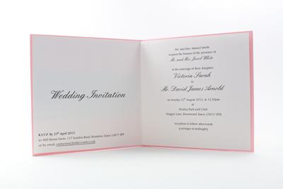 Bright Wedding Invitations - Paper Insert