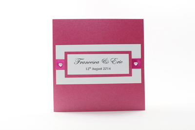 Bright Coloured Wedding Invitations Fuchsia
