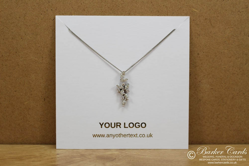 Custom Printed Necklace Display Cards