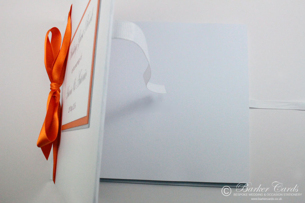 Wedding Guest Book Bright Orange (available in all colours)