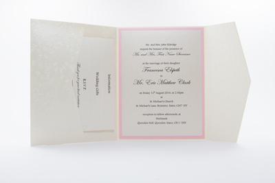 Light Pink Pocket Wedding Invitations