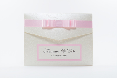 Light Pink Pocket Wedding Invitations