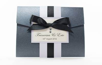 Black Pocketfold Wedding Invitations