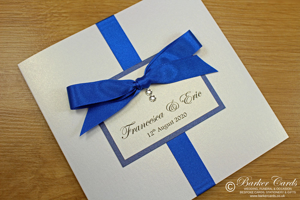 Royal Blue Wedding Invites  Elegance