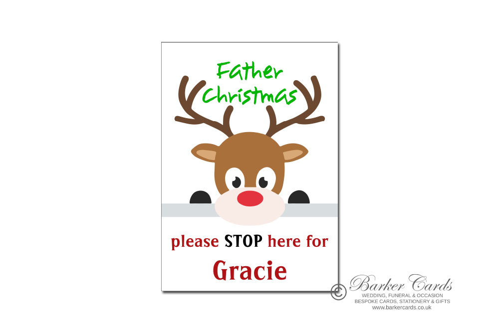 Father Christmas Please Stop Here Sign